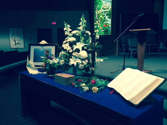 Memorial Table with Bible