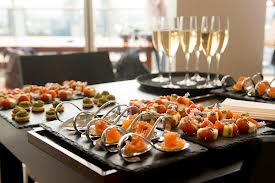 Elegant Catering with Champagne Toast
